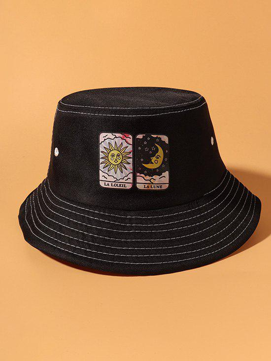 Unique Sun And Moon Card Pattern Bucket Hat