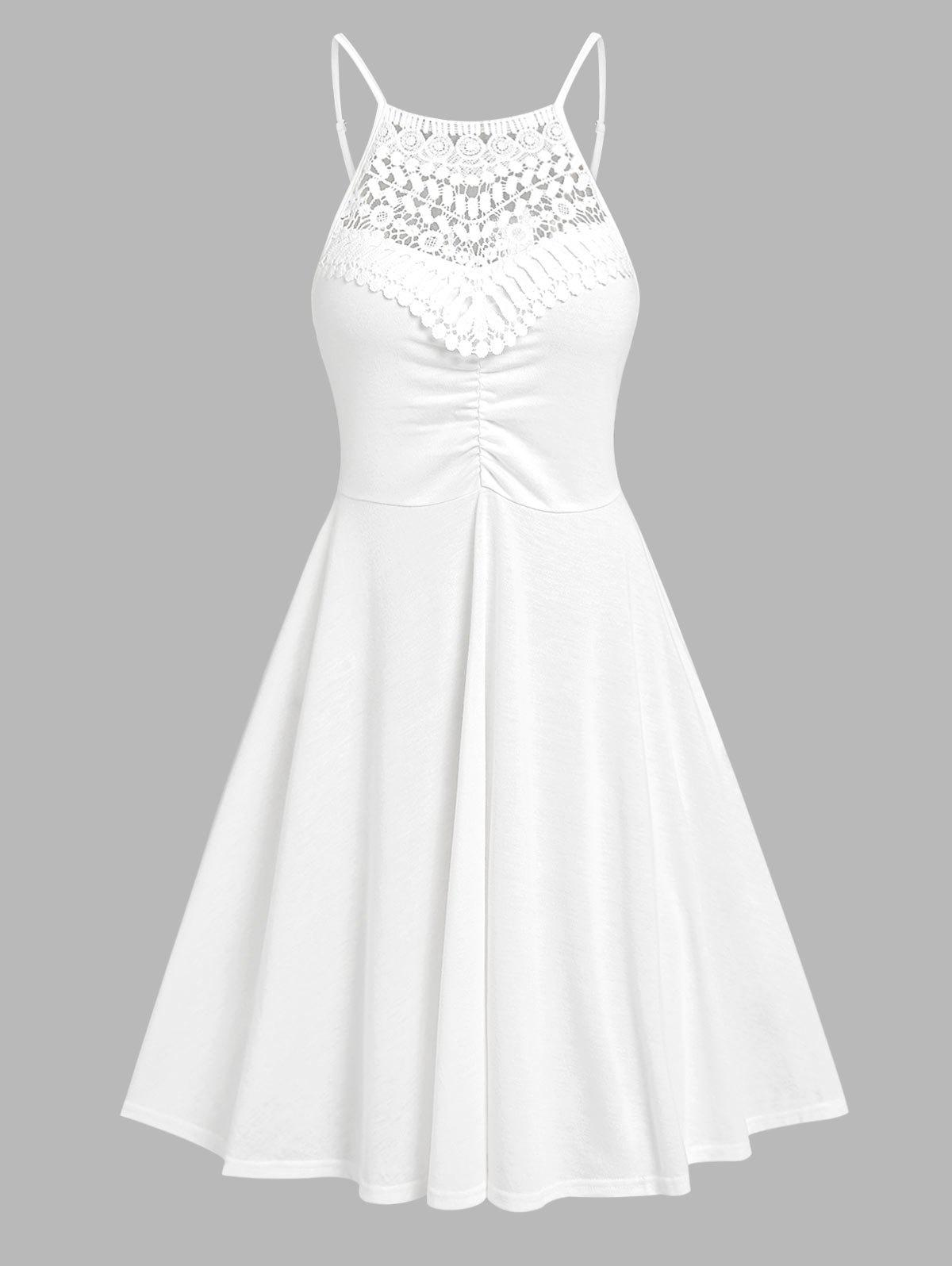 Outfits Guipure Lace Cutaway Cami Dress