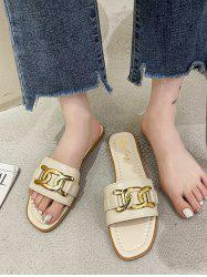 Chunky Chain Decorated Flat Slides -