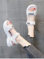 Letter Print Chunky Sporty Sandals -