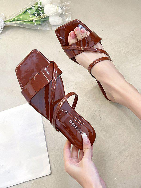 Best Square Toe Strappy Slip-On Sandals