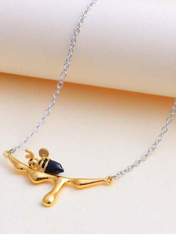 Engraved Honey Bee Pendant Necklace