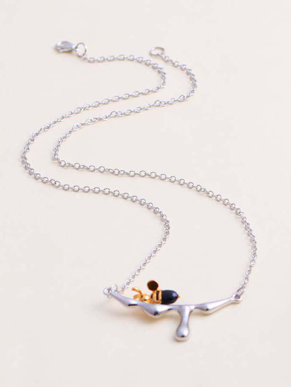 Shops Engraved Honey Bee Pendant Necklace
