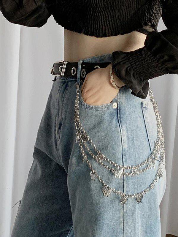 Affordable Butterfly Pendant Triple-Layer Trousers Chain