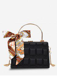 Embossed Quilted Scarf Rectangle Crossbody Bag -