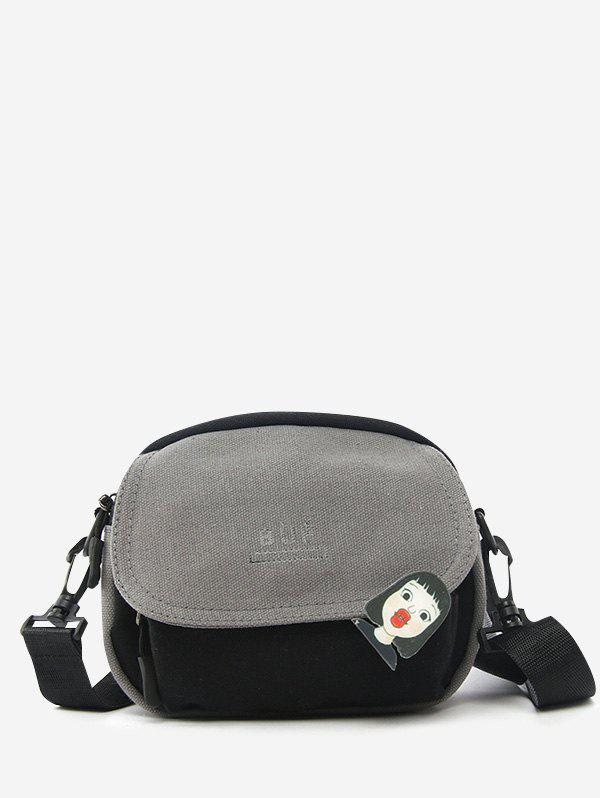 Shops Colorblock Canvas Flap Crossbody Bag With Badge