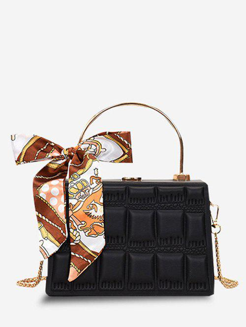 Cheap Embossed Quilted Scarf Rectangle Crossbody Bag