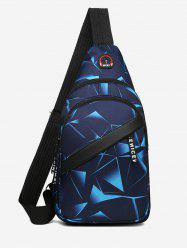 Printed Multi Compartment Sling Bag -