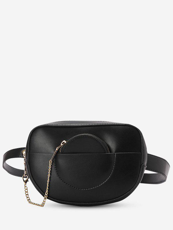 Store Faux Leather Bum Bag With Pouch