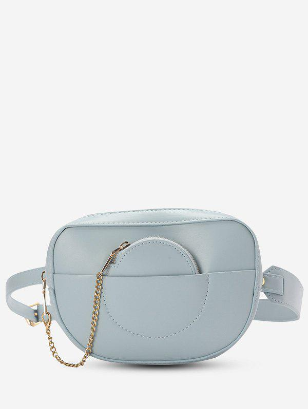 Buy Faux Leather Bum Bag With Pouch