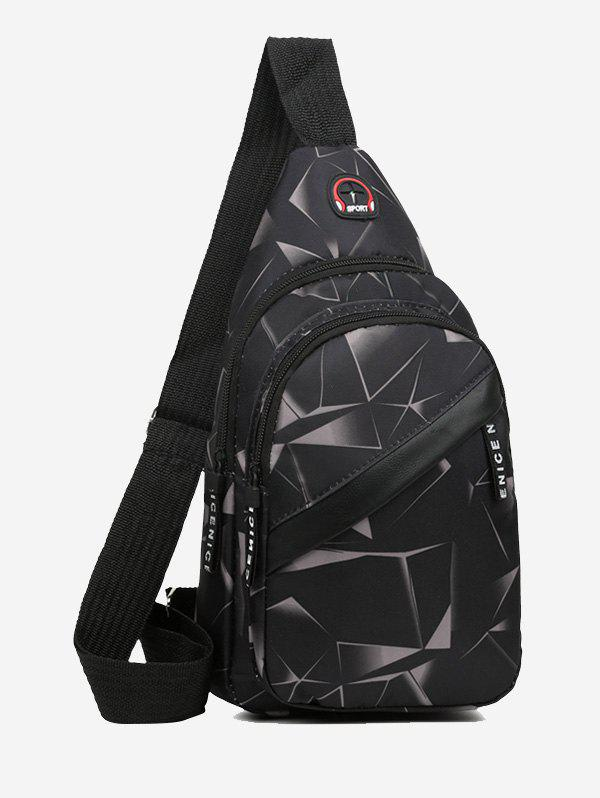 Latest Printed Multi Compartment Sling Bag