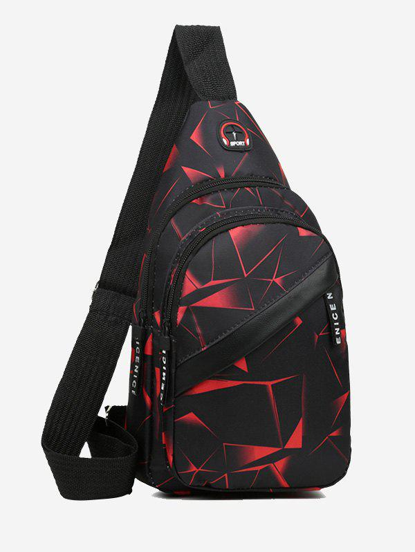 New Printed Multi Compartment Sling Bag