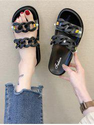 Beach Chain Double Strap Outdoor Slippers -