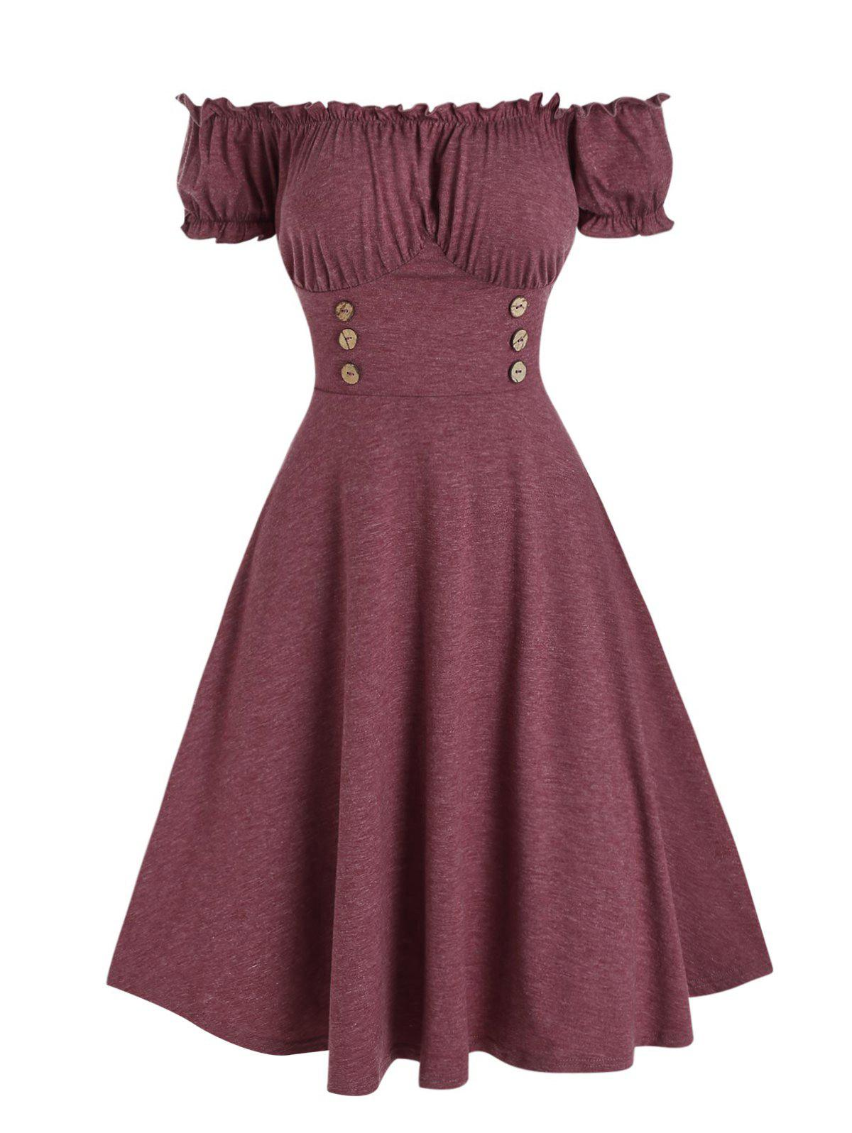 New Ruffled Off The Shoulder Dress