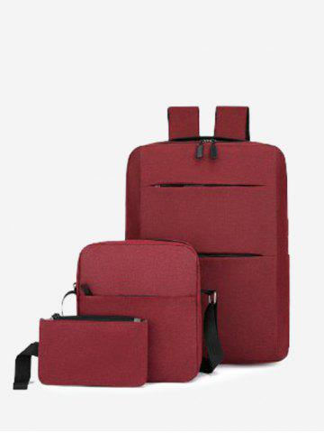 Multi Compartment Backpack With Two Small Bag
