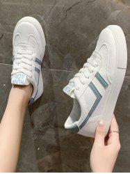Lace-Up Letter Print Colorblock Sneakers -