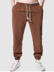 Beam Feet Casual Solid Color Pants -