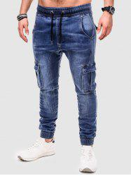 Multi Pockets Twisted Jeans -