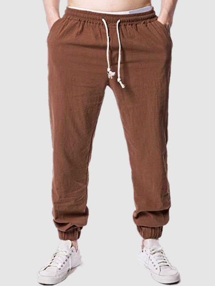 Online Beam Feet Casual Solid Color Pants
