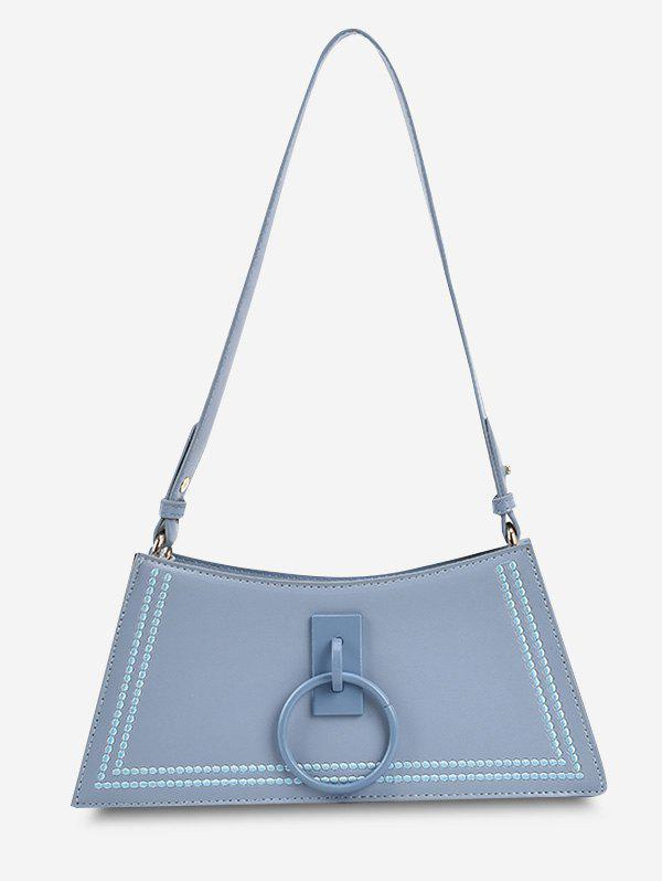Buy O Ring Embroidery Trapezoid Shoulder Bag