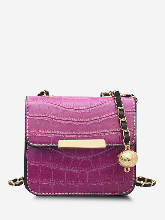 Outfits Contrast Trim Cover Chain Mini Crossbody Bag