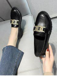 Chain Embellished Slip-On Shoes -