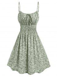 Ruched Bust Space Dye Dress -