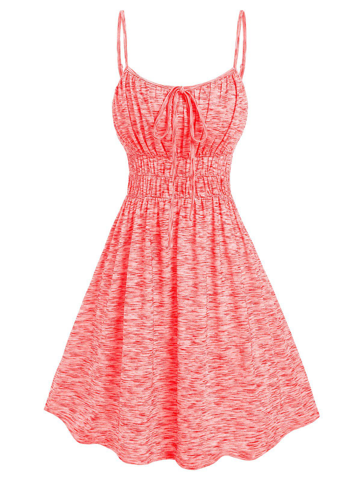 Discount Ruched Bust Space Dye Dress