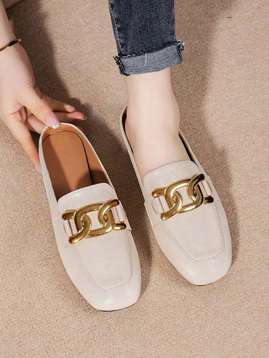 Buy Square Toe Chain Slip-On Shoes
