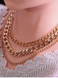 Triple Layer Chunky Chain Necklace -