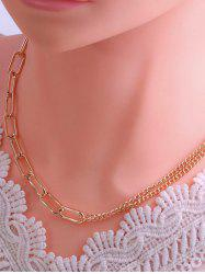 Spliced Chain Hip Hop Style Necklace -