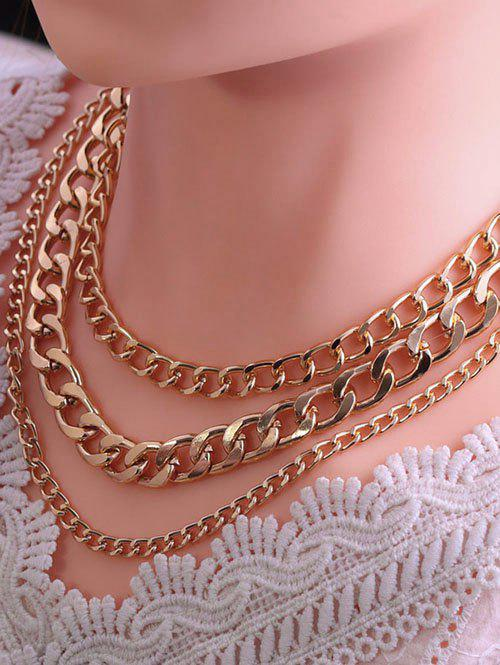 Affordable Triple Layer Chunky Chain Necklace