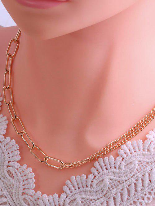 Trendy Spliced Chain Hip Hop Style Necklace