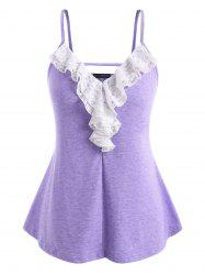Plus Size Lace Ruffle Cami Top -