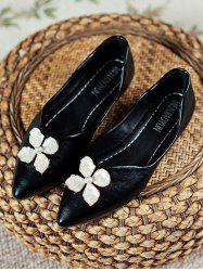 Floral Pointed Toe Flat Shoes -