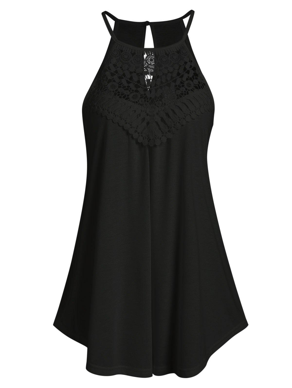 Shops Cut Out Lace Insert Cami Top