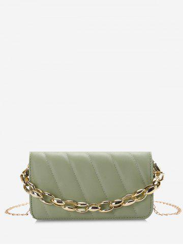 Rectangle Quilted Chains Shoulder Bag