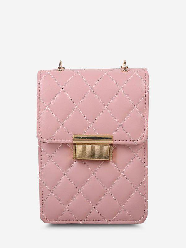 Shop Lattice-Quilted Chain Crossbody Bag