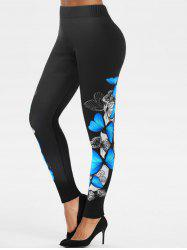 High Rise Butterfly Print Pants -