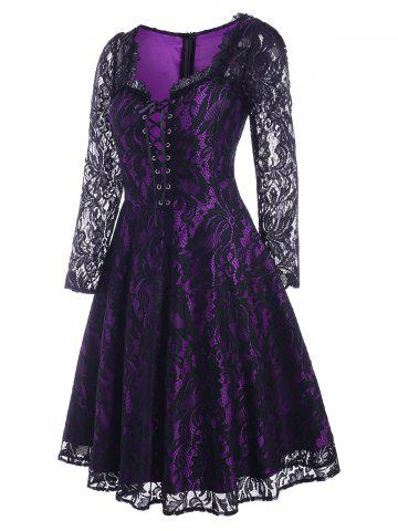 Lace Up Halloween Pin Up Dress