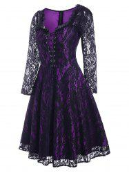 Lace Up Halloween Pin Up Dress -