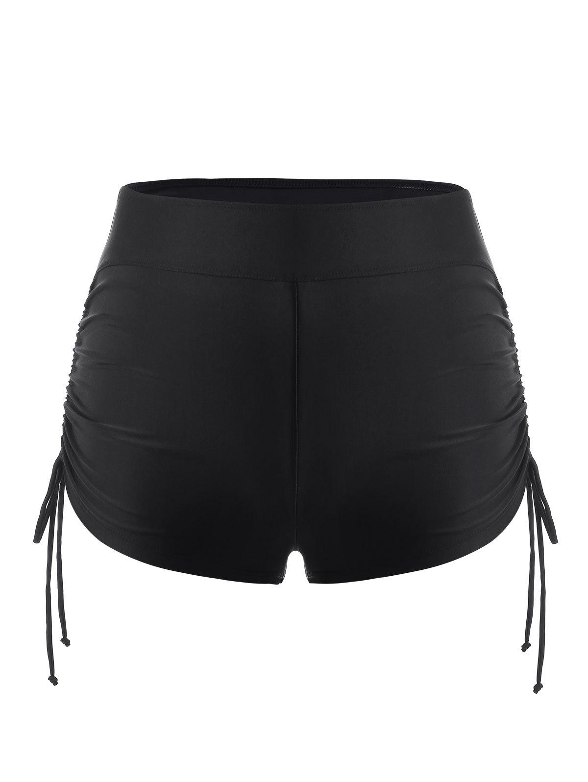 Outfits Plus Size Cinched Ruched Swim Boyshorts