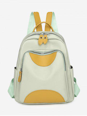 Colorblock Double Compartment Backpack