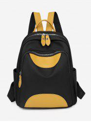 Colorblock Double Compartment Backpack -