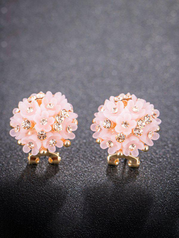 Outfit Rhinestone Flower Clumps Stud Earrings