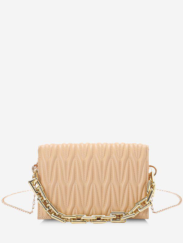 Discount Quilted Chunky Chain Handle Crossbody Bag
