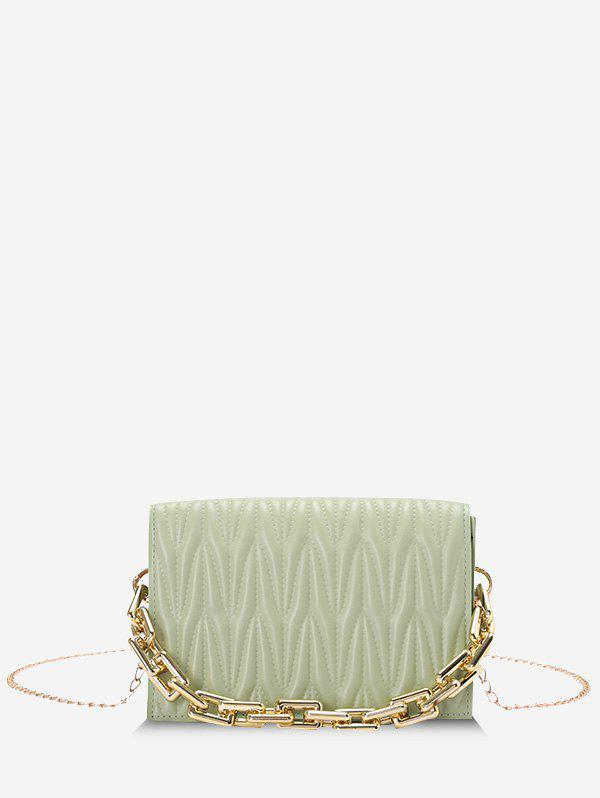 Affordable Quilted Chunky Chain Handle Crossbody Bag