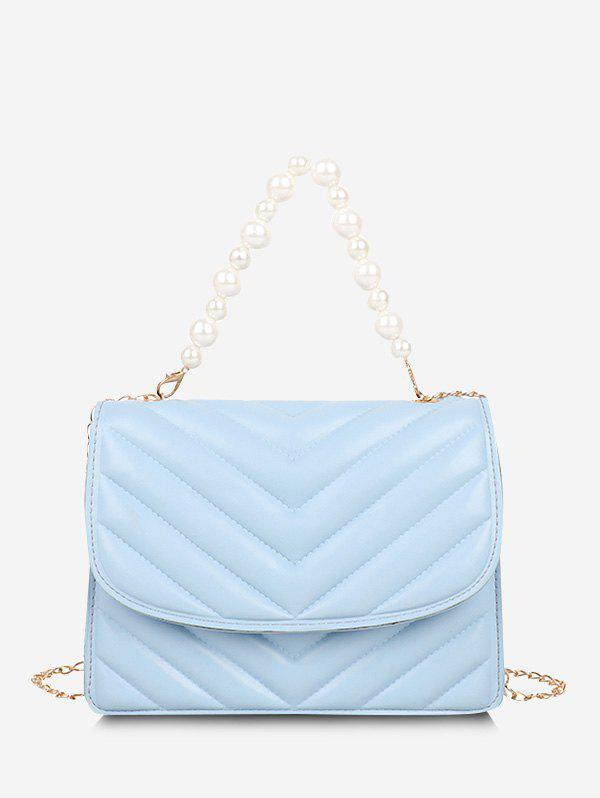 Shops Zigzag-Quilted Faux Pearl Crossbody Bag