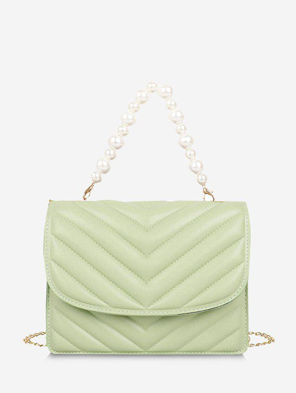 Outfit Zigzag-Quilted Faux Pearl Crossbody Bag