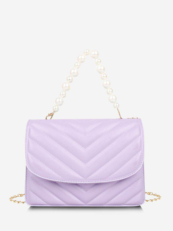 Buy Zigzag-Quilted Faux Pearl Crossbody Bag